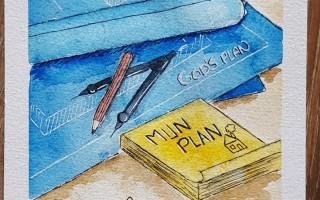 """Schilderij geïnspireerd door thema """"Mijn plan is groter"""""""