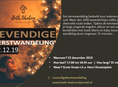 Uitnodiging Levendige kerstwandeling in Nijverdal